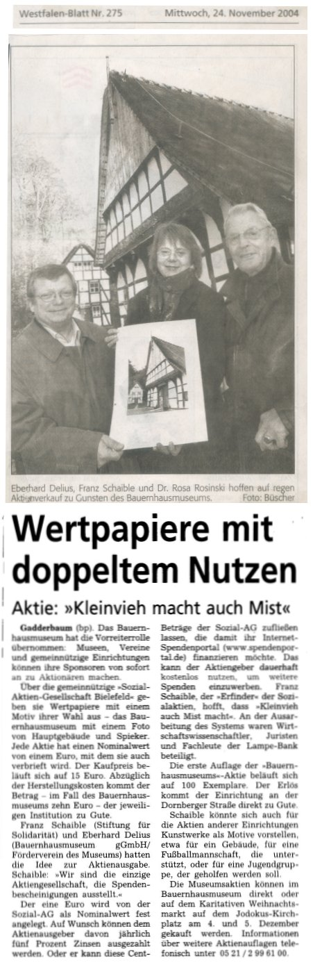 Scan des Artikels Westfalen Blatt 24. November 2004